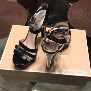 Michael Kors Black Leather High Heels